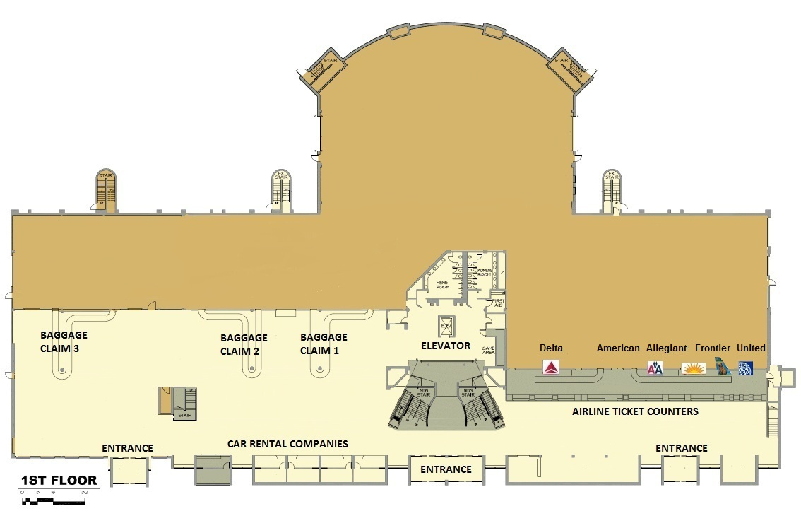 Airport Map 1st Floor Hector International Airport