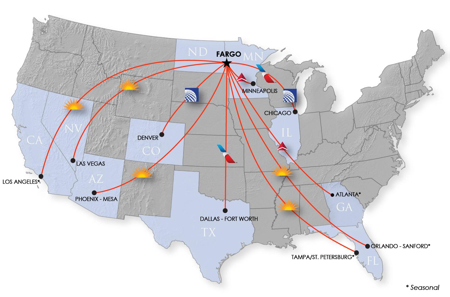 Flight Map Of Us Flight Map   Hector International Airport